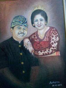 SELF POTRET | OIL ON CANVAS                                                                             Salah satu lukisan dr. Wayan Retayasa Secara otodidak dr. Retayasa menggemari   aktifitas seni lukis realisnya dan telah banyak menghasilkan puluhan karya
