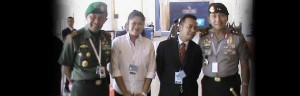 Putu Kornia bersama Pangdam IX Udayana dan Kapolda Bali